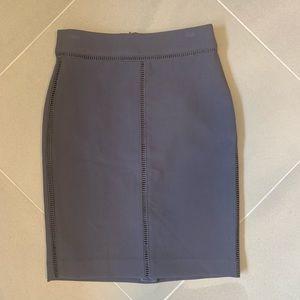 Ann Taylor Petite Gray Career Pencil Skirt
